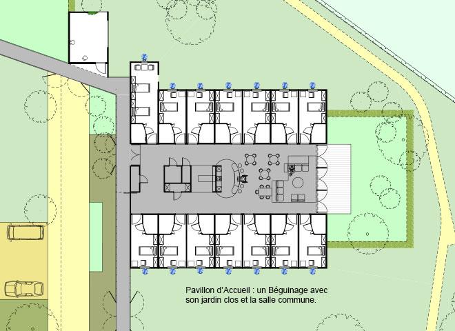 Pavillon d accueil alzheimer thierry germe architectes for Architecture unite alzheimer